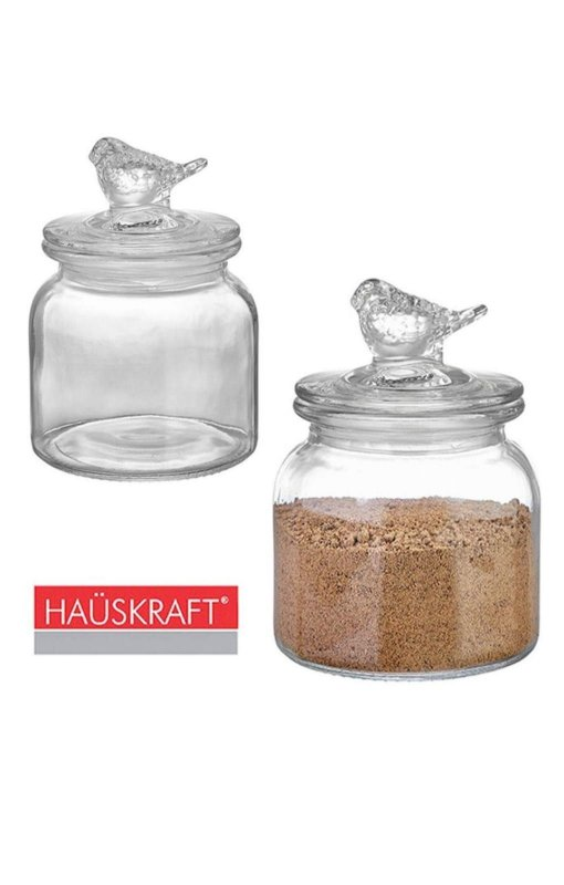 Pote de vidro hermético Clear Passarinhos 600 ml