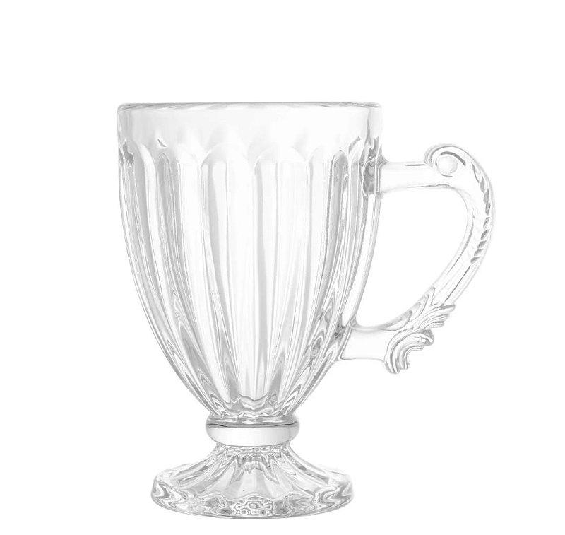 Caneca de vidro Renaissance para cafe / cappuccino Lyor 200ml