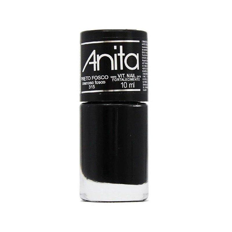 Esmalte Anita cremoso Preto Fosco 10ml