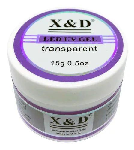Gel para alongamento de unhas X&D 17 Transparente 15gr LED UV