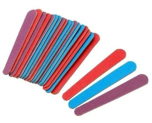 Lixa de unha colorida Santa Clara média 10cm