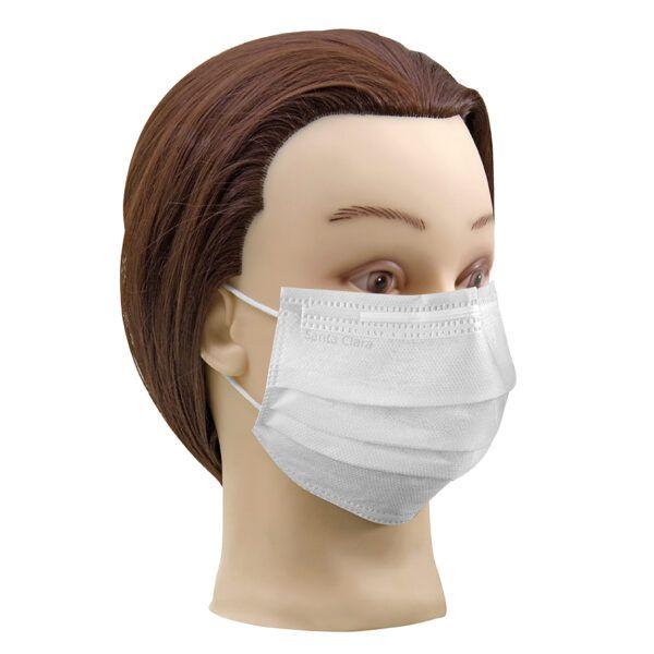 Mascara descartável branca com elástico c/100
