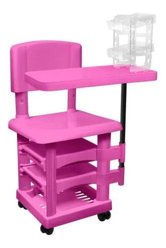Cadeira de manicure Elegante cirandinha rosa Santa Clara