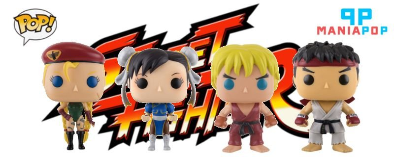 Funko Pop Street Fighter - Ryu ou Ken ou Chun-li ou Cammy