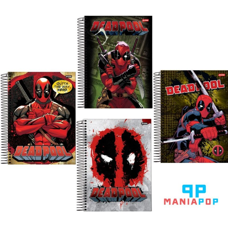 Caderno Universitário Deadpool - 200 fls