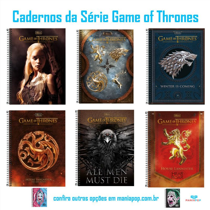 Caderno Universitário Capa Dura 200 folhas - Game of Thrones
