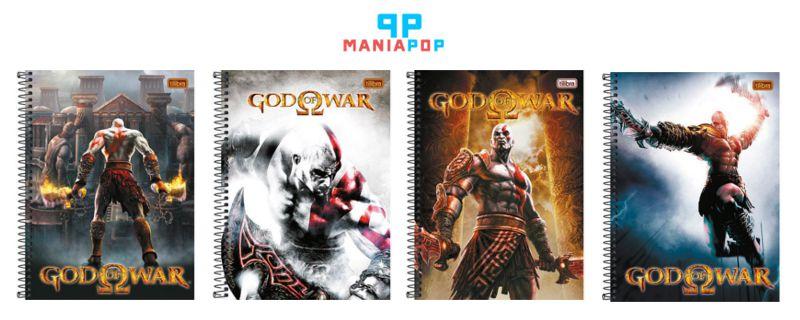 Caderno Universitário Capa Dura 200 folhas - God of War