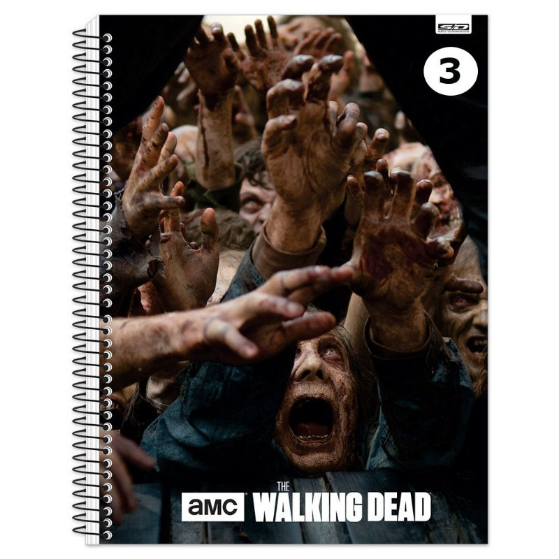 Caderno Universitário - 200 fls - The Walking Dead