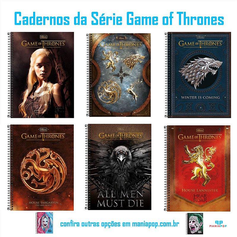 Caderno Universitário 96 folhas - Game of Thrones