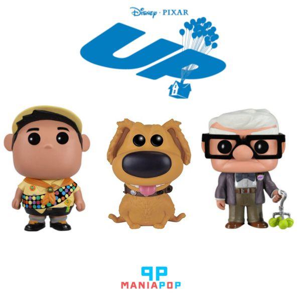 Funko Pop - Up - Altas Aventuras - Carl ou Russel ou Dug - Vendidos Separadamente