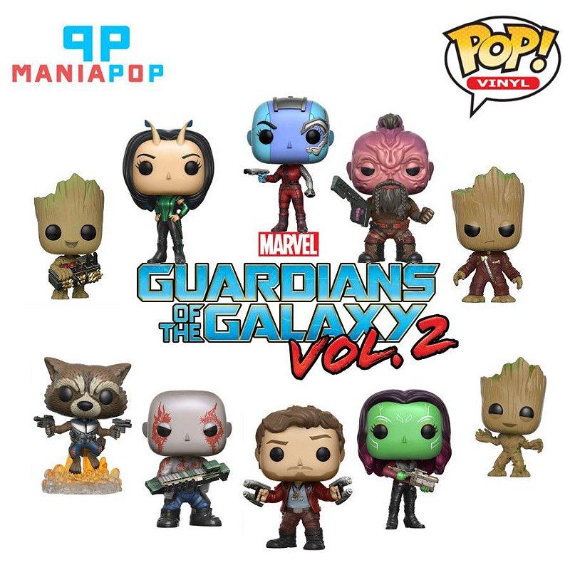 Funko Pop - Guardiões da Galáxia - Marvel - Vendidos Separadamente