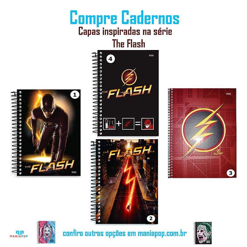 Caderno Universitário Capa Dura 200 folhas - The Flash - Vendidos Separadamente