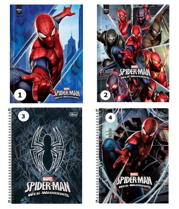 Caderno Universitário 96 folhas - Homem-Aranha - Webwarriors - Vendidos Separadamente