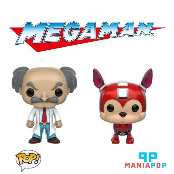 Funko Pop - Game Mega Man - Wily ou Rush