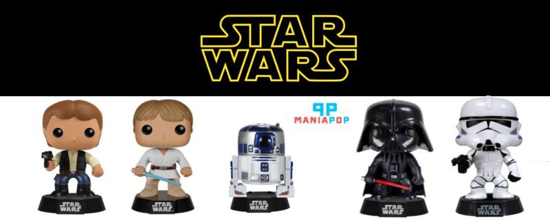 Funko Pop - Star Wars - Luke Skywalker ou Darth Vader ou Clone Trooper ou R2-D2