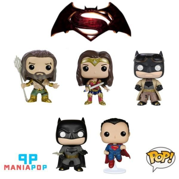 Funko Pop - Batman vs Superman - Aquaman ou Batman ou Mulher Maravilha ou Superman