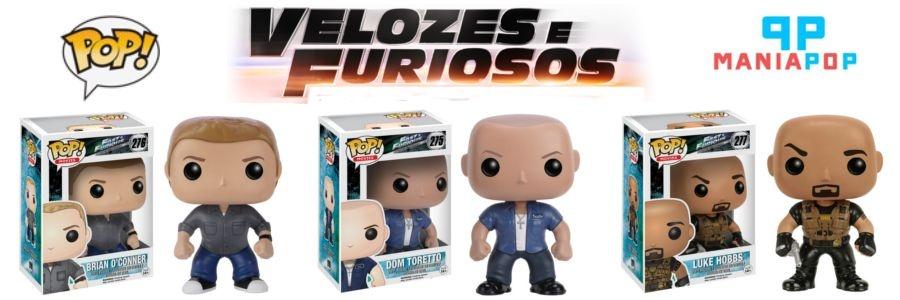 Funko Pop - Velozes e Furiosos - Brian OConner ou Dom Toretto ou Luke Hobbs