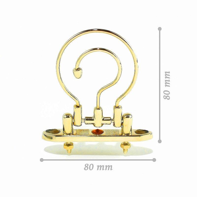 Gancho Dourado Luxo - Pequeno - Com Pedras