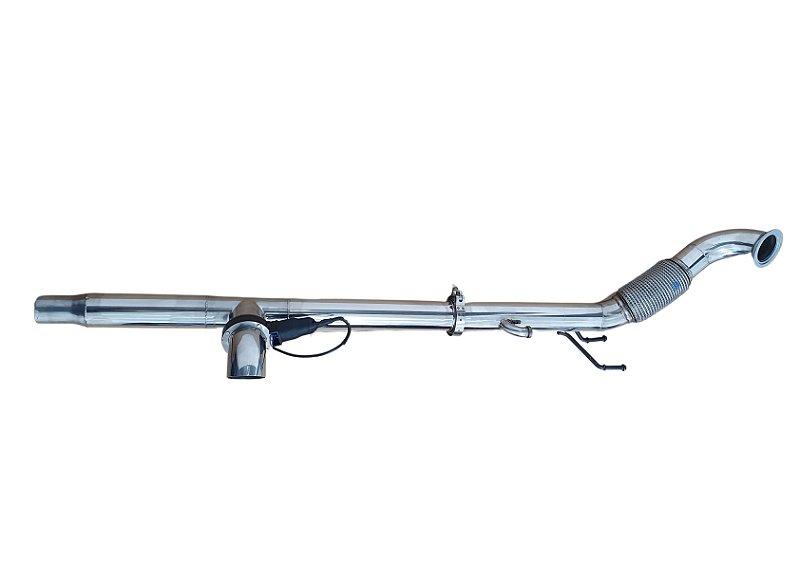 Downpipe VW JETTA/AUDI 211cv - Inox 304 de 3 polegadas  - COM DIFUSOR DE ESCAPE