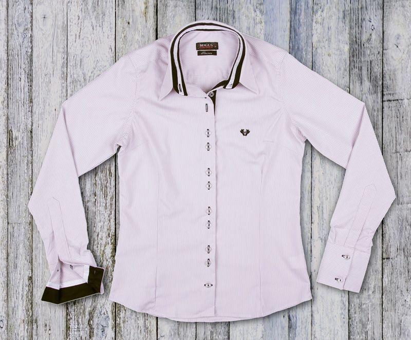 Camisa Feminina My Cris Listrada Cinza