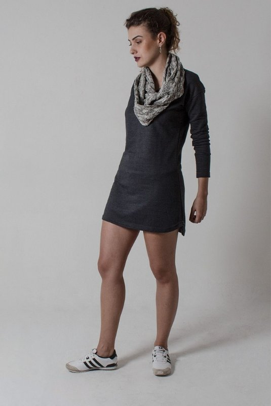 Vestido curto Manga Longa de moletom