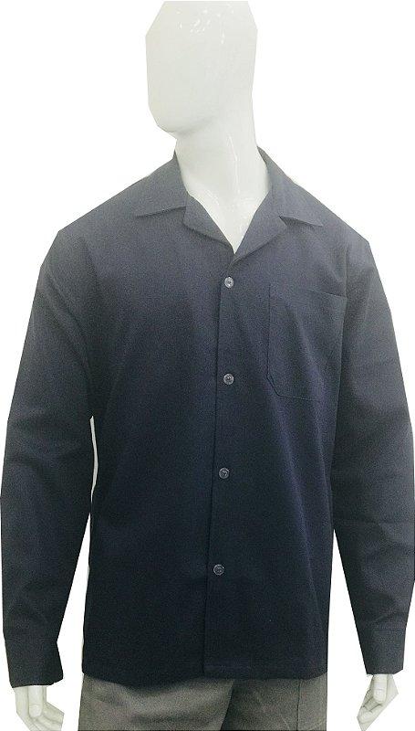 Jaleco/Camisa em Brim manga longa