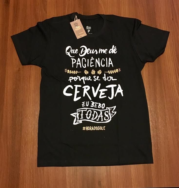Camiseta #CervejeiroComOrgulho preta