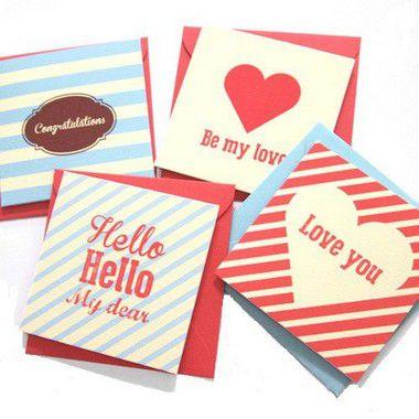 Cartão de Mensagem Decorado | Entrega Grátis | Cartão Grátis