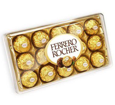 Ferrero Rocher 12 und | Entrega Grátis | Cartão Grátis
