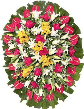 Coroa de Flores Brasília 10 | Entrega Grátis | Dizeres Grátis