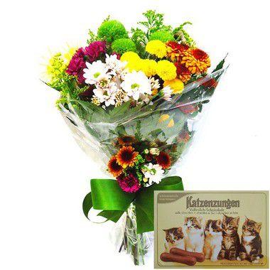 Super Promoção Buquê de Flores 1 + Caixa de Bombom | Entrega Grátis | Cartão Grátis