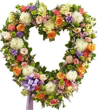 Coroa de Flores Brasilia Coração 24 | Entrega Grátis | Dizeres Grátis
