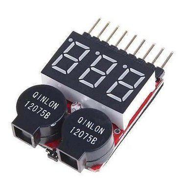 Alarme/medidor de bateria li-po buzzer e disply.