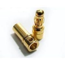 Conectores Bullet 3,5mm macho/fêmea