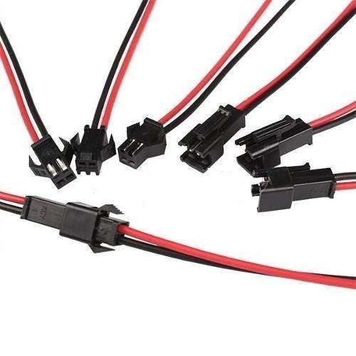 Conector Molex 2 pinos macho/fêmea par