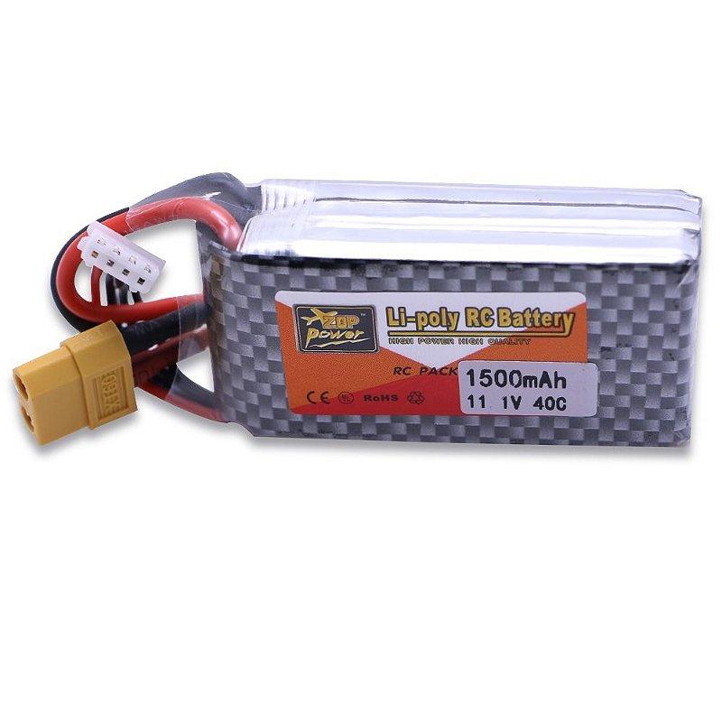 Bateria ZOP Power 3 S 11.1 V 1500 MAH 25C