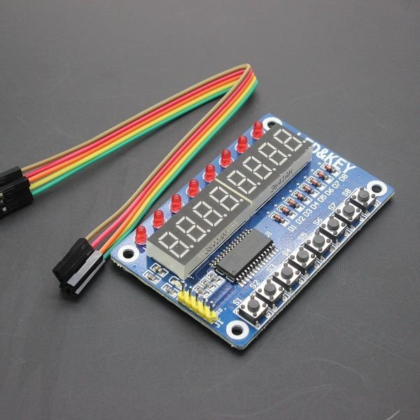 Chave Para AVR Arduino Nova 8-Bit Digital Tubo LED 8-Bit TM1638 Módulo