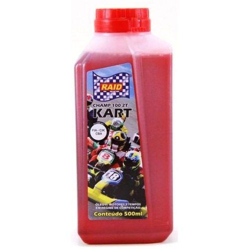 Óleo RAID 2 T solúvel em gasolina, álcool, etanol e metanol. 500 mls