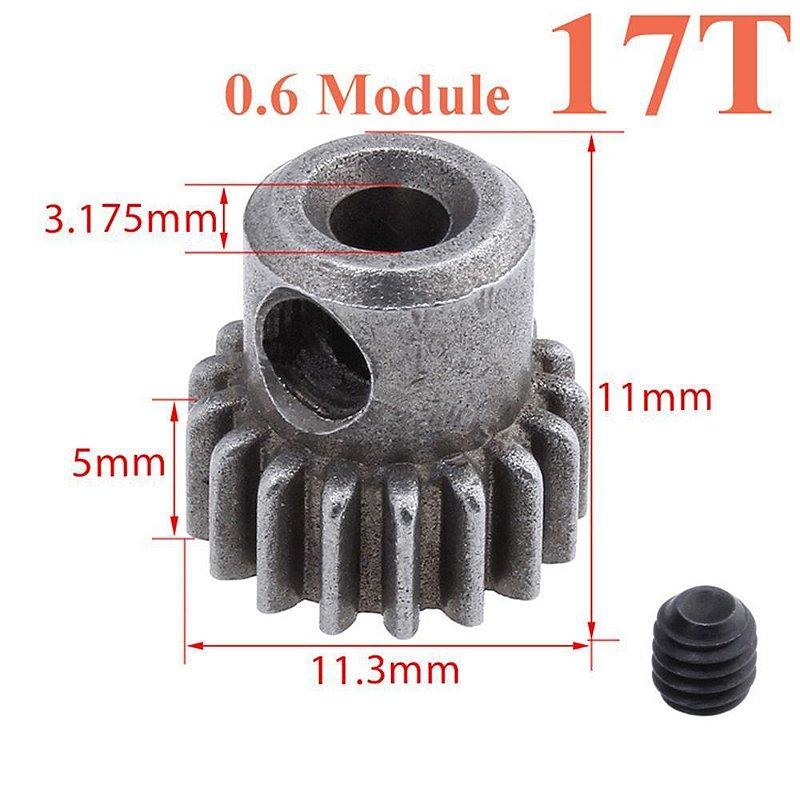 Engranagem em metal 17T - 11184 diferencial de motor 5MM 64T para HSP RC 1/10 unidade