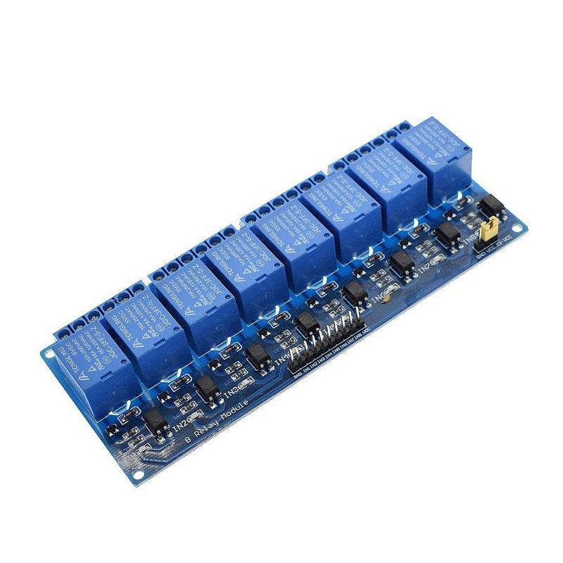 Optoaclopador 8 canais 12 volts
