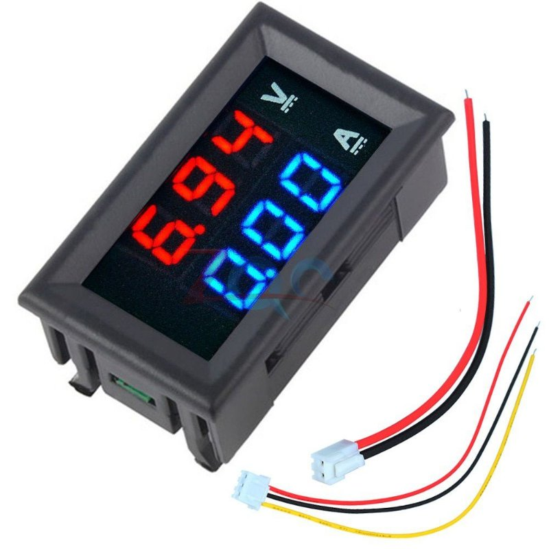Mini voltímetro/amperímetro digital.