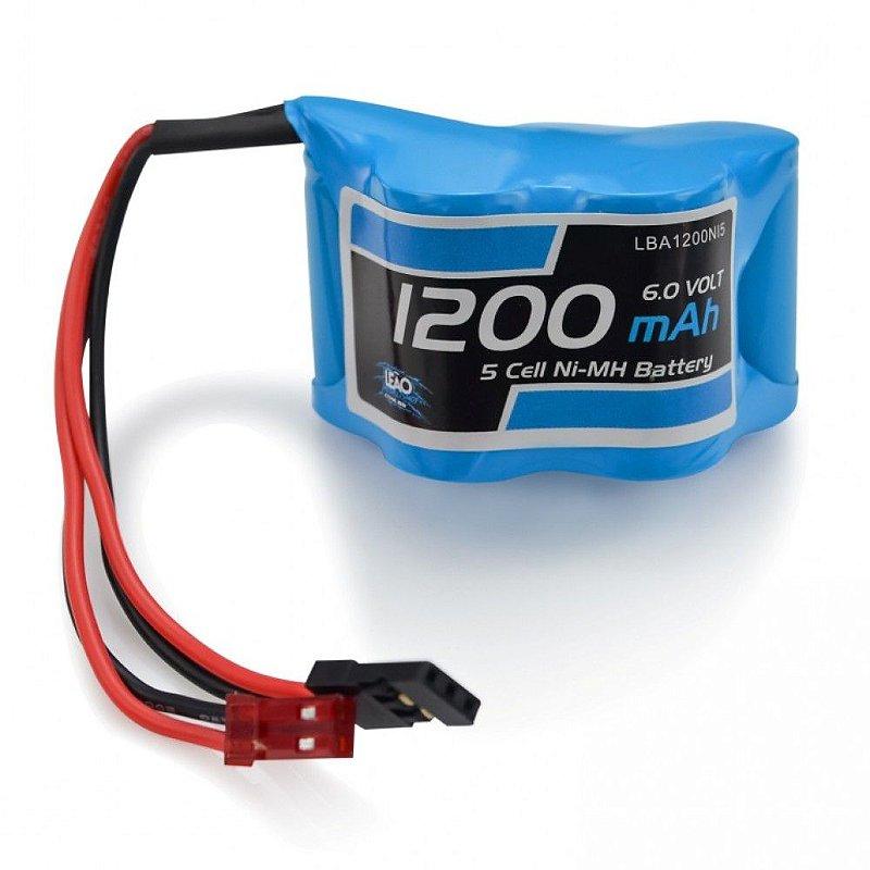 Bateria - NIMH(RX) - 6.0V - 1200mAh - Piramide - JST