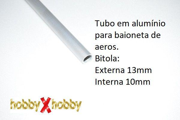 Tubo em alumínio para baionetas, 13mm.