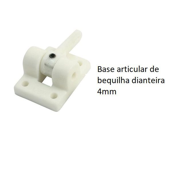 Base de bequilha dianteira 4mm
