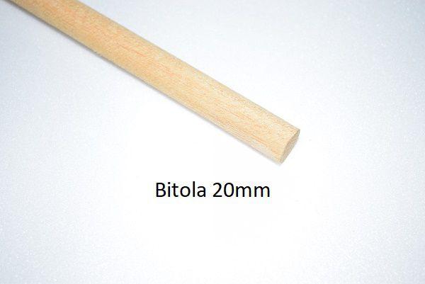 Vareta em madeira torneadas para baionetas 20mm
