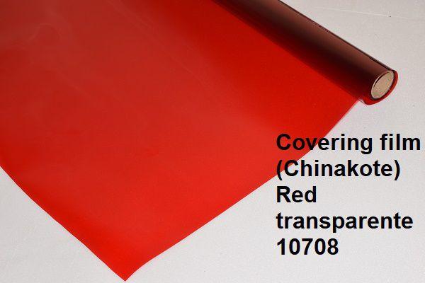 Chinakote vermelho transparente metro.