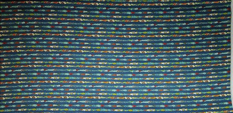 Floral Listrado Azul. Tecido 100% Algodão. NF0040 (50x140cm)