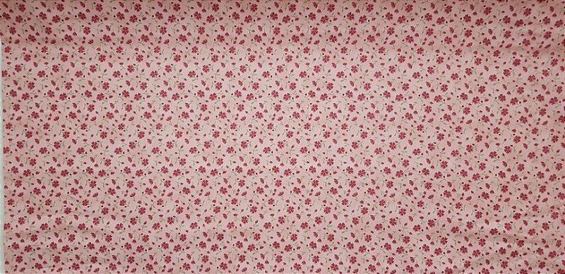 Florzinha Rosa. Tecido 100% algodão. TN049B (50x140cm)
