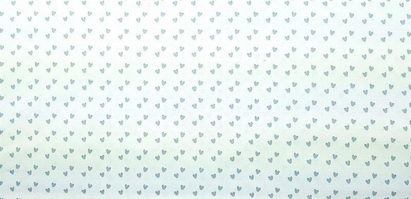 Dupla de Corações. Tecido 100% algodão; NN0030A (50x140cm)