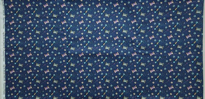 Botões Marinho. Tecido Digital. NT0064. (50x70cm)